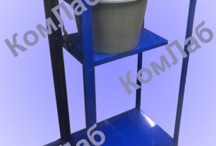 Приспособление для гидростатического взвешивания с подъемным столиком и лебедкой