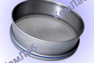 Сито металлическое (ячейка 0,2 мм) d=200мм – для определения тонкости помола гипса