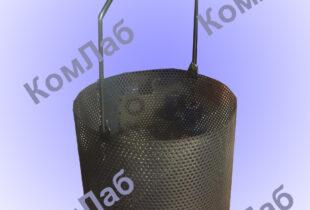 Корзина (сосуд) для гидростатического взвешивания V = 4-7 л, размер ячейки (отверстий) не более 3,35