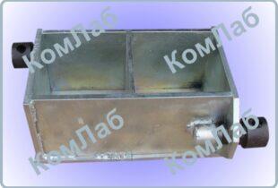 Форма куба для бетонных образцов 100х100х100мм двухгнездная оцинкованная (2ФК-100)