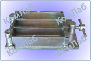 Форма балочка для цементных образцов 40х40х160 мм трехсекционная оцинкованная (3ФБ-40)