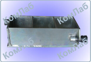 Форма куба для бетонных образцов 100х100х100 трехгнездная оцинкованная (3ФК-100)