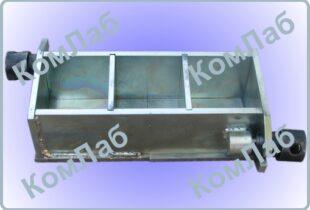 Форма куба для бетонных и растворных образцов 70,7х70,7х70,7 мм трехгнездная оцинкованная (3ФК-70,7)