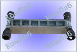 Форма куба для бетонных образцов 20х20х20 шестигнездная оцинкованная (6ФК-20)